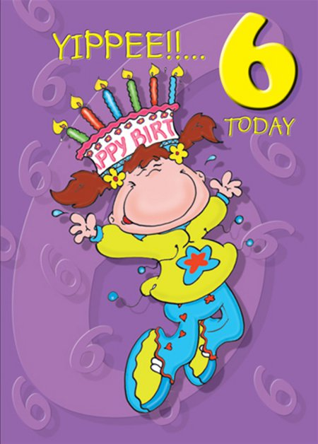 birthday card for 6 year old granddaughter ; Sixth-Happy-Birthday-wb078126