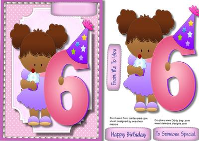 birthday card for 6 year old granddaughter ; cup579773_1398