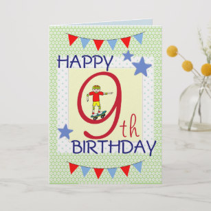 birthday card for 9 year old boy ; childrens_birthday_card_boy_9_years_old-reb3b67d7363f45bc82998e9144e77f3f_em0c6_307
