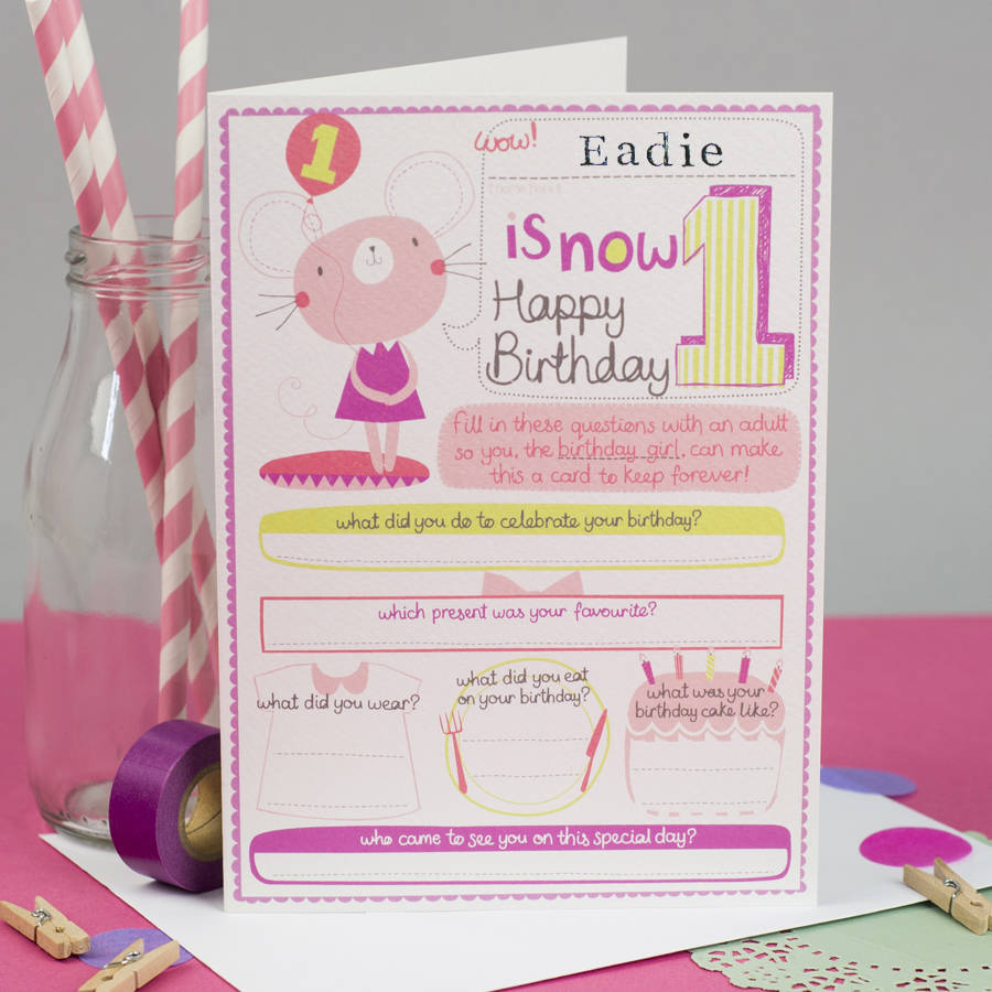 birthday card for baby girl ; original_personalised-girls-1st-birthday-card