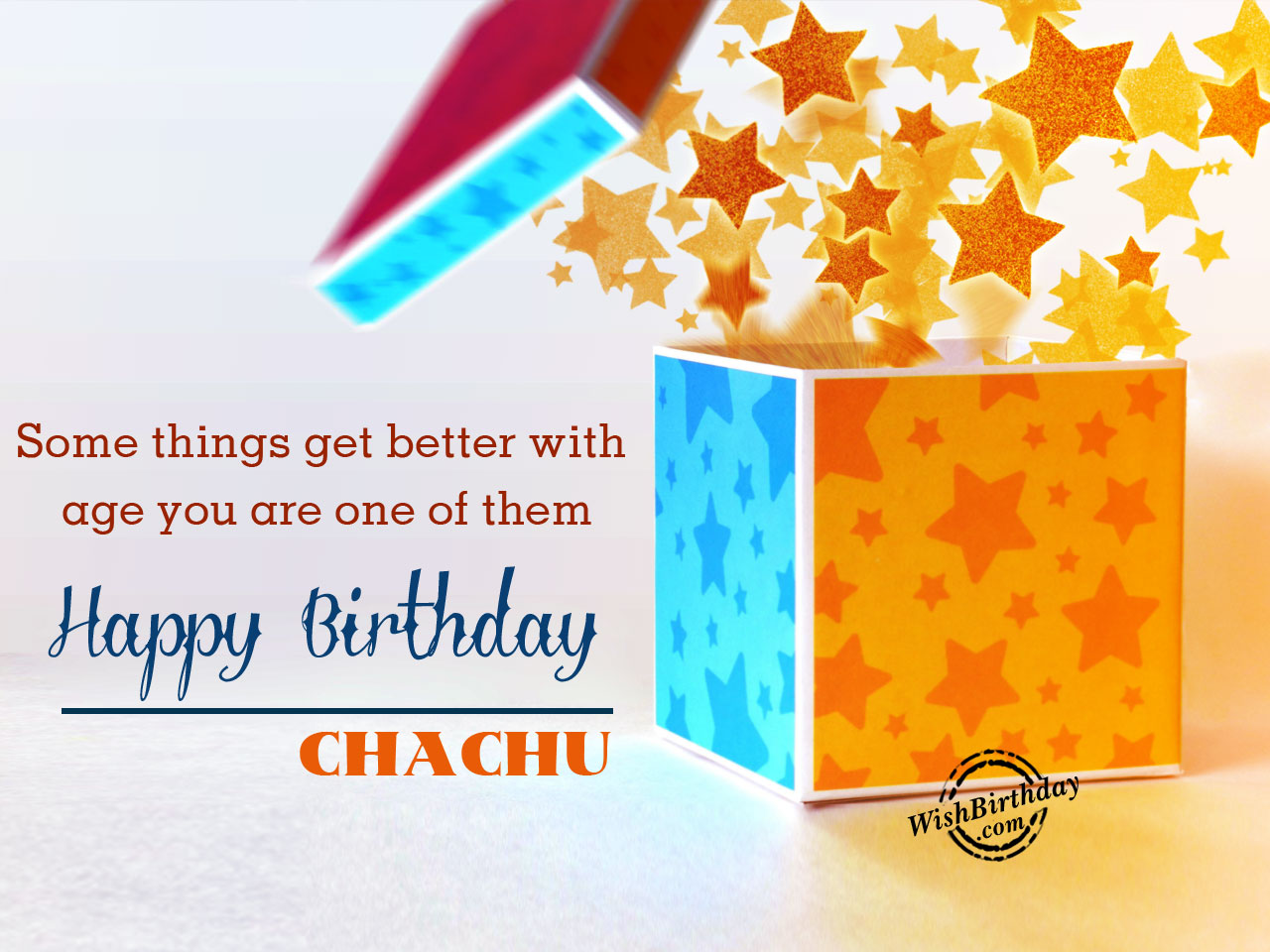 birthday card for chachu ; Some-things-get-better