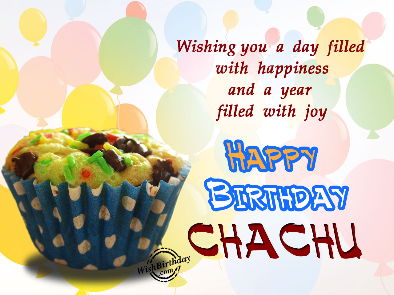 birthday card for chachu ; Your-day-filled-with-happiness-chachu