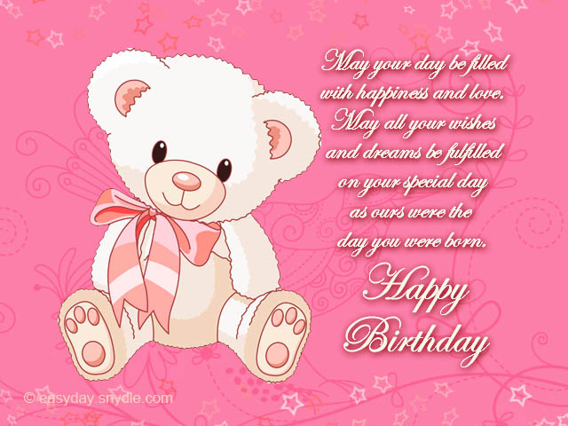 birthday card for daughter from dad ; Sweet-cute-teddy-bear-birthday-greeting-card-for-daughter
