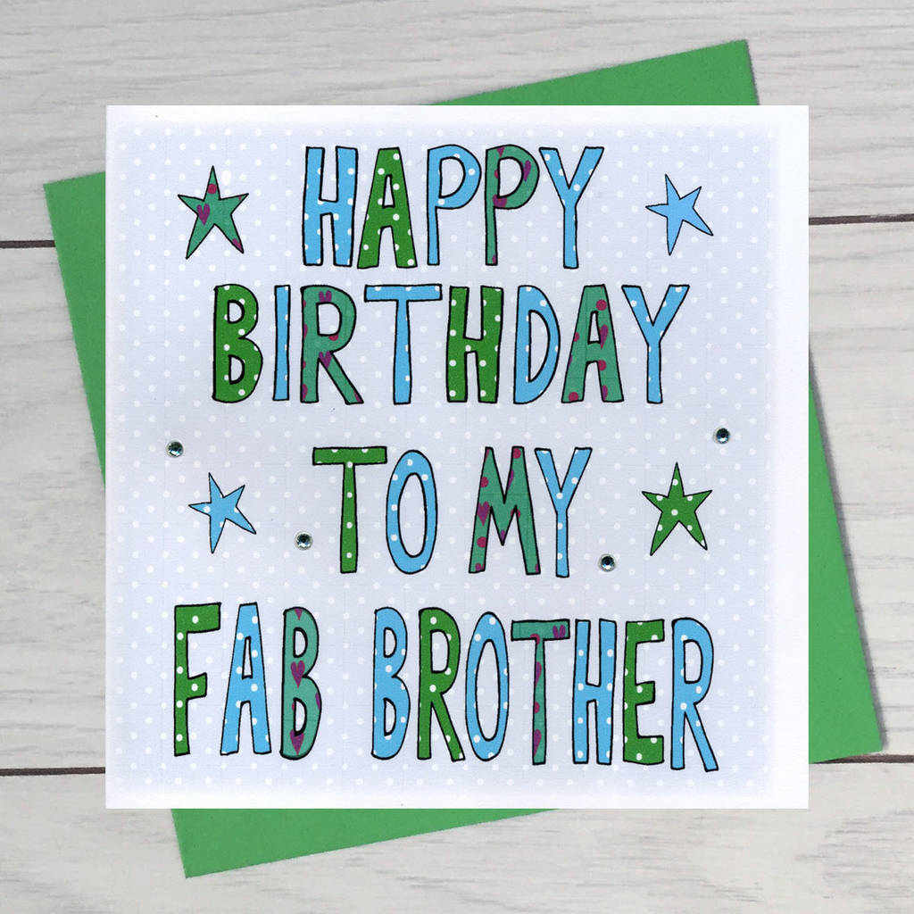 birthday card front covers ; original_personalised-brother-birthday-book-card