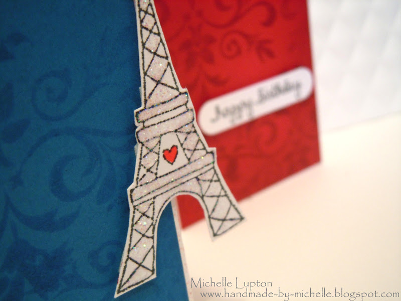 birthday card in french language ; French+flag+close+up
