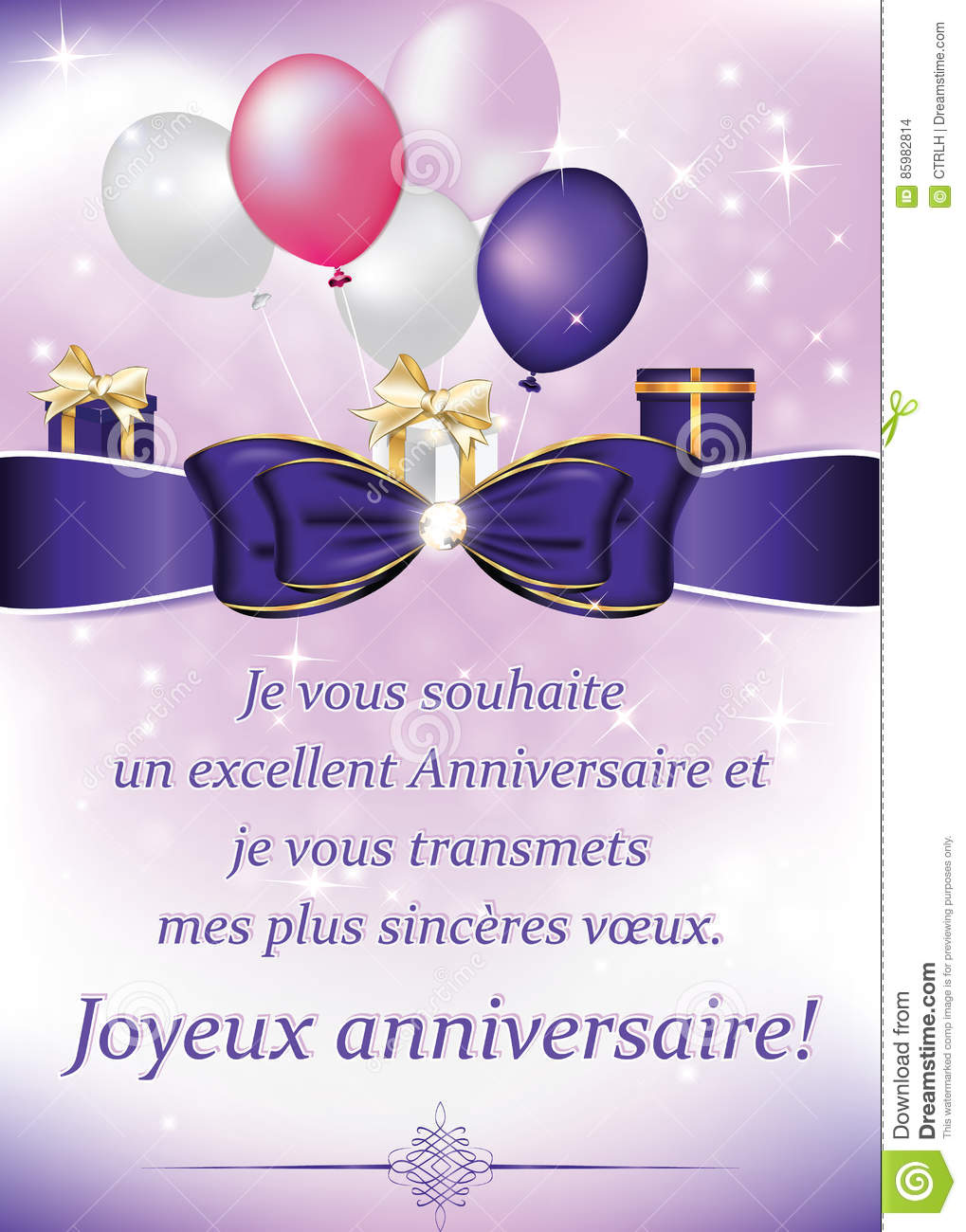birthday card in french language ; french-birthday-greeting-card-balloons-gifts-i-wish-you-excellent-anniversary-wish-you-all-best-happy-85982814