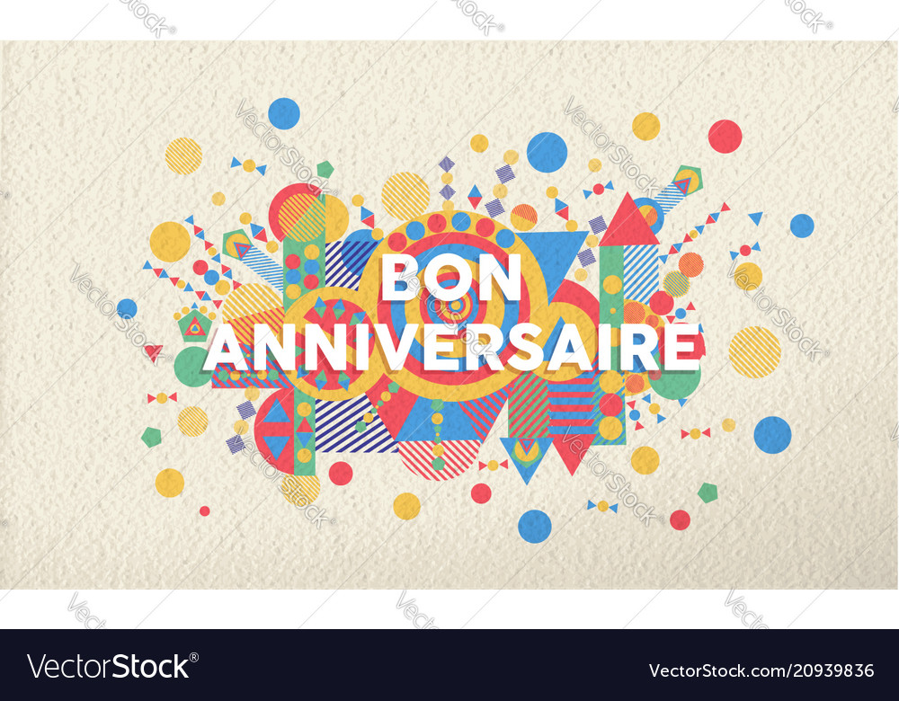 birthday card in french language ; happy-birthday-greeting-card-in-french-language-vector-20939836