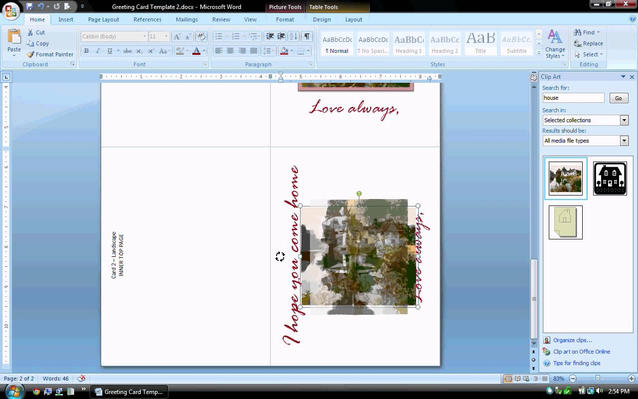 birthday card layout for word ; maxresdefault-1