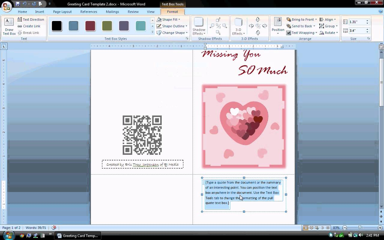 birthday card layout for word ; maxresdefault