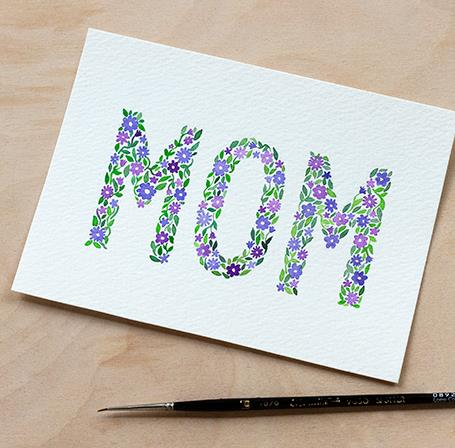 birthday card making ideas for mom ; diy-watercolor-mothers-day-card-with-printable-from-adventures-in-diy-birthday-cards-for-mom
