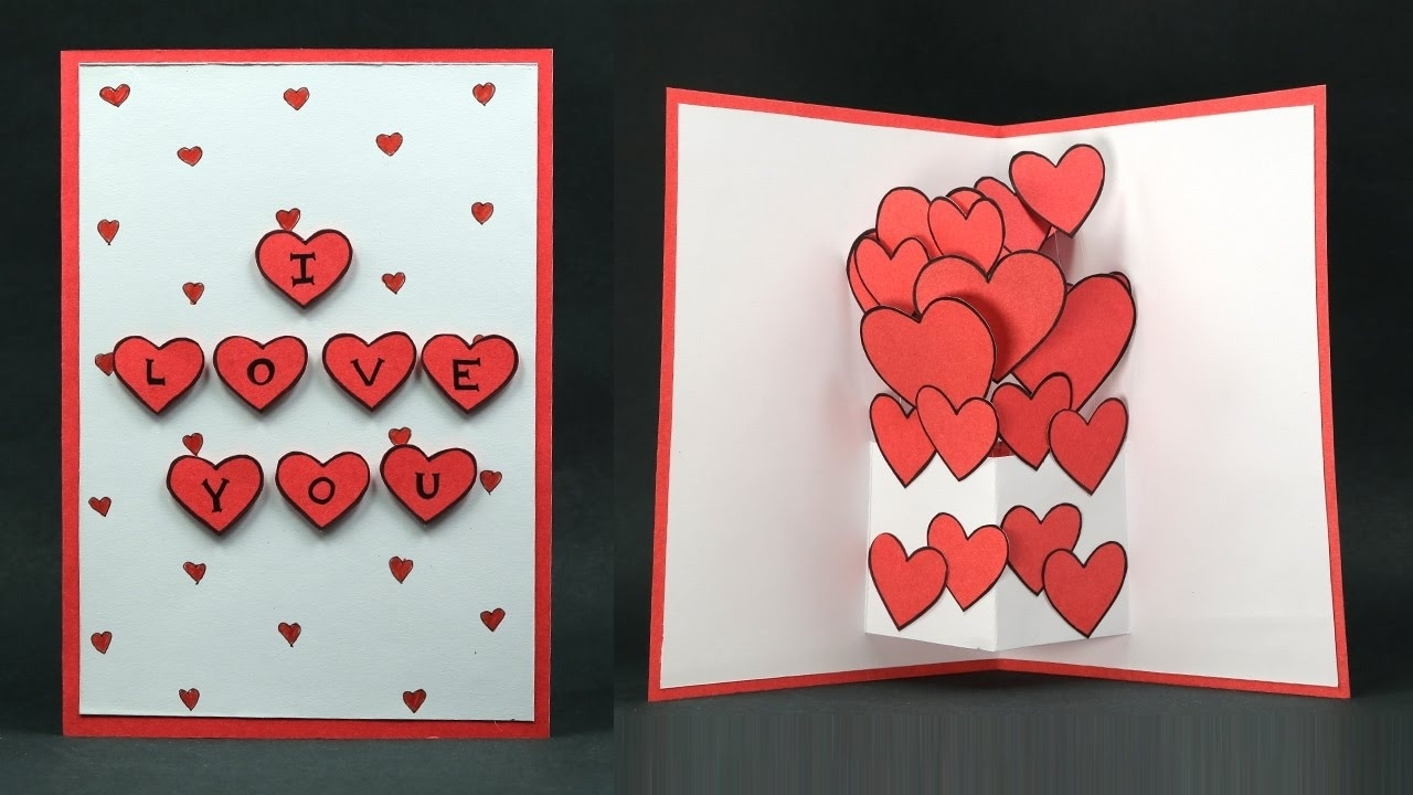 birthday card making step by step ; diy-valentine-card-pop-up-heart-i-love-you-card-making-step-intended-for-how-to-make-handmade-birthday-cards-for-lover-step-by-step