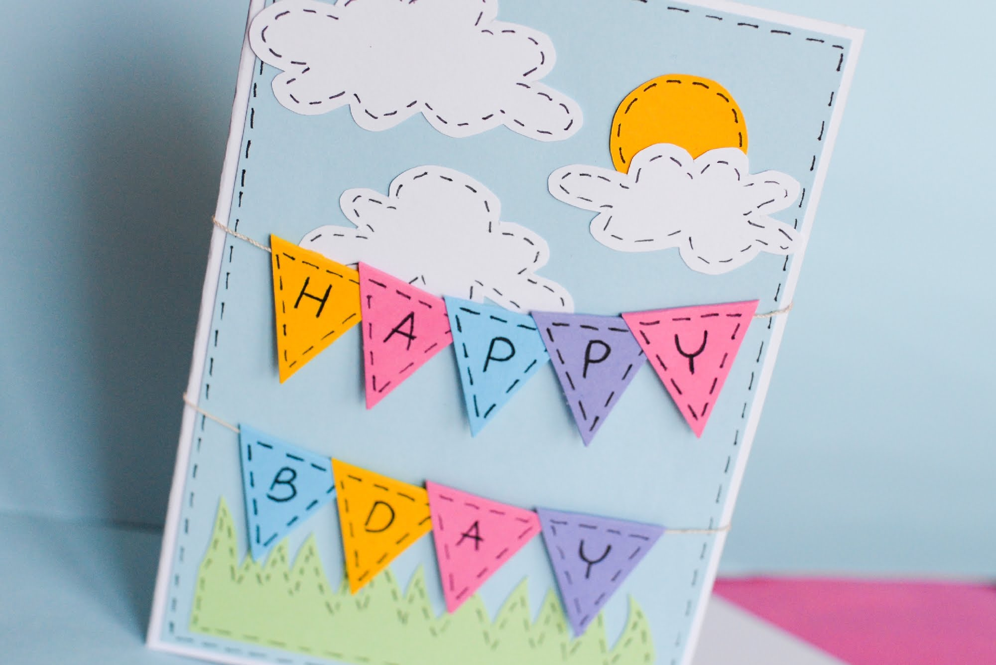 birthday card making step by step ; maxresdefault