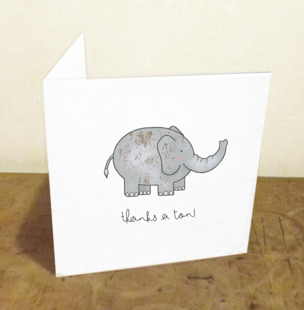 birthday card puns ; birthday-card-puns-thanks-a-ton-funny-pun-handmade-illustrated-thank-you-card-w-gold-download