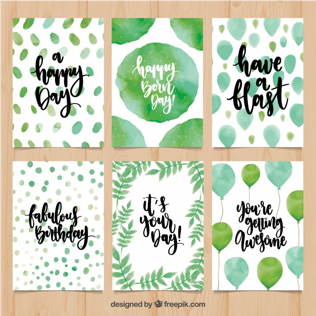 birthday card shapes ; birthday-card-pack-with-abstract-watercolor-shapes-and-balloons_23-2147648174
