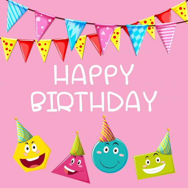 birthday card shapes ; happy-birthday-card-template-with-different-shapes_1308-2980