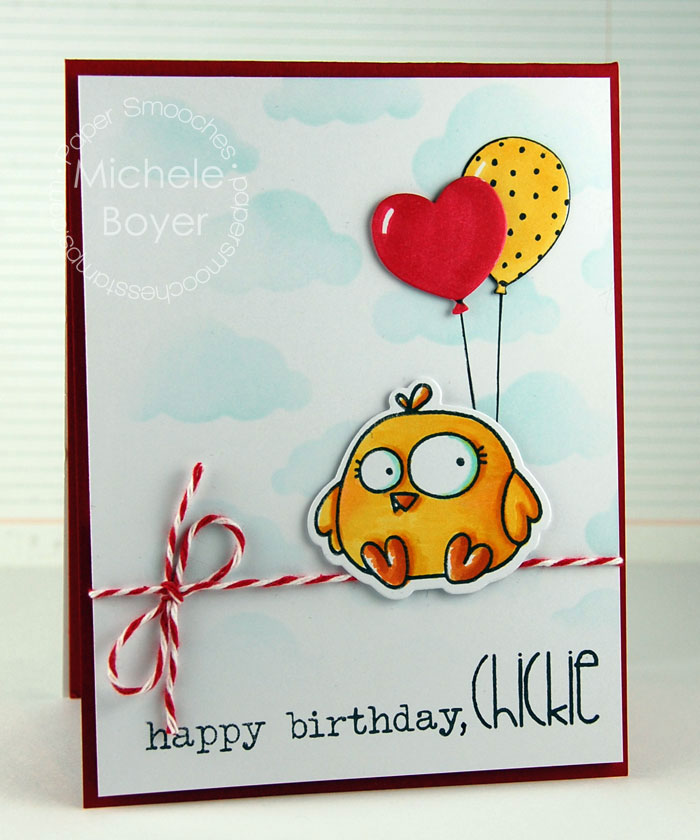 birthday card tutorial ; Chick-Finished1
