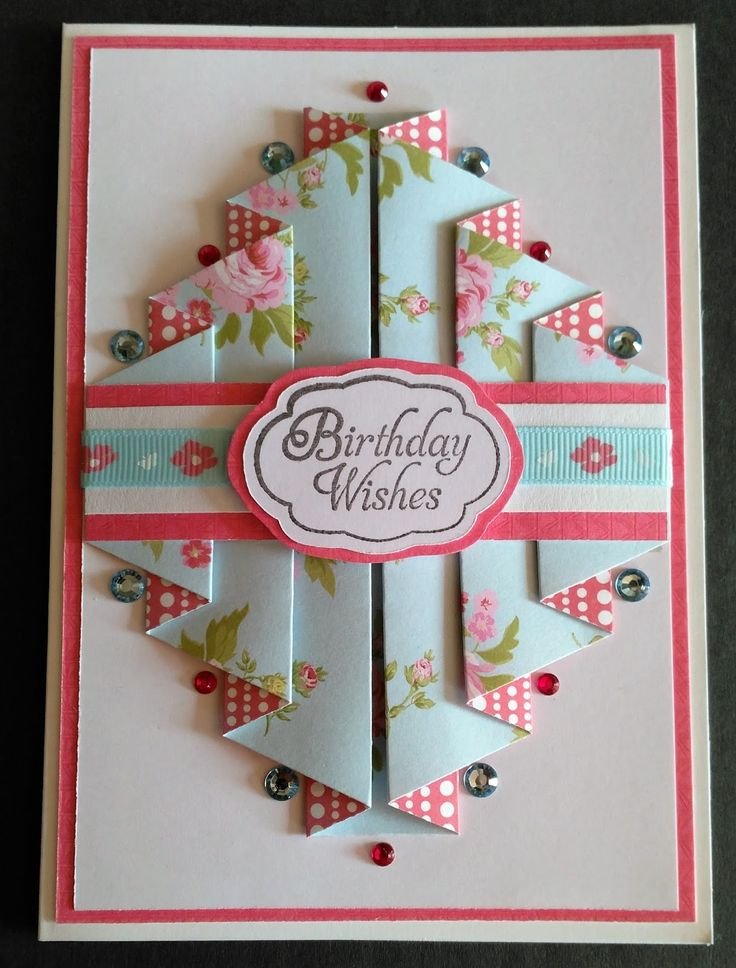 birthday card tutorial ; how-to-fold-greeting-cards-25-unique-folded-cards-ideas-on-pinterest-card-making