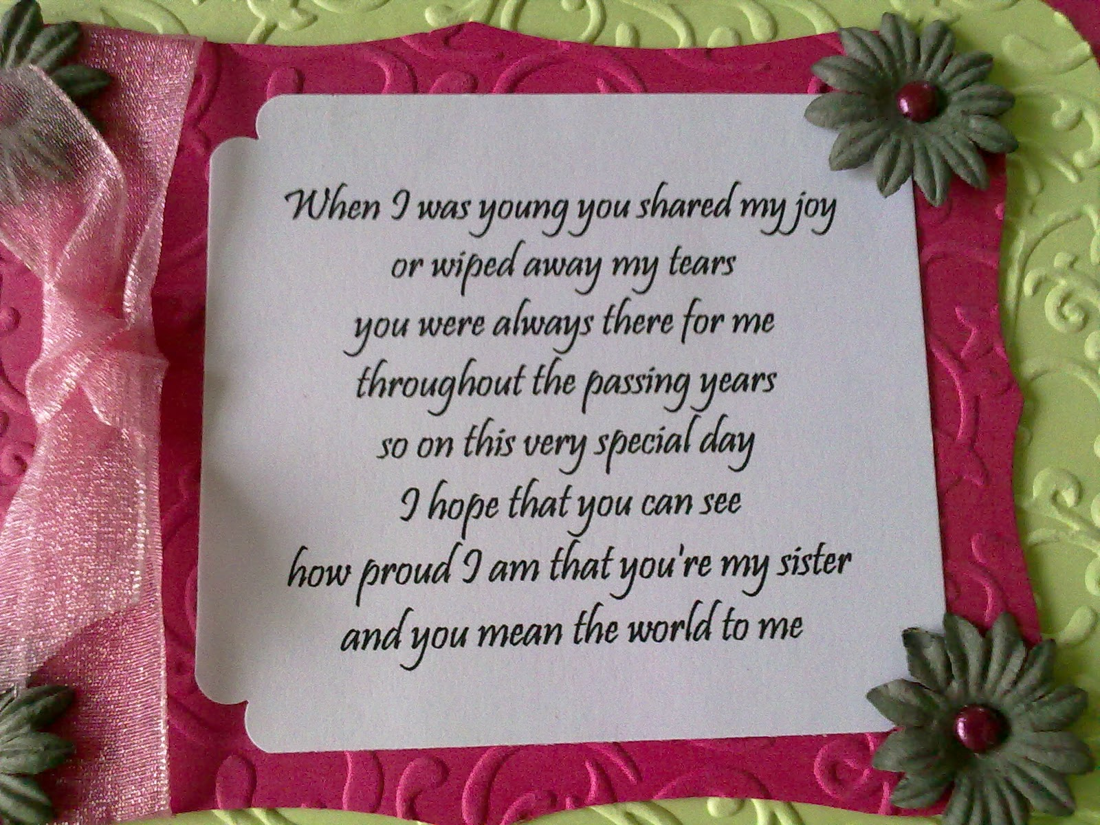 birthday card verses for auntie ; Done+334a