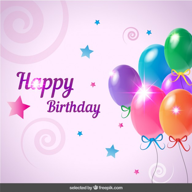 birthday card with image ; birthday-card-with-balloons_1019-8