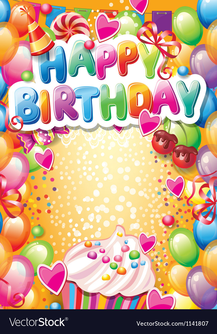 birthday card with image ; template-for-happy-birthday-card-with-place-for-vector-1141807