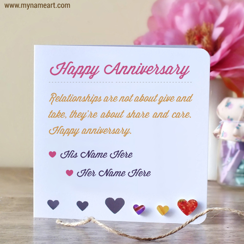 birthday card with name and photo editor ; anniversary-wishes-for-a-couple-with-name