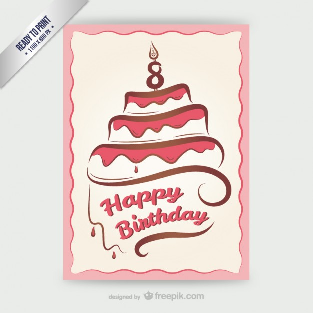 birthday card with pictures free ; cmyk-happy-birthday-card-with-cake_23-2147500100
