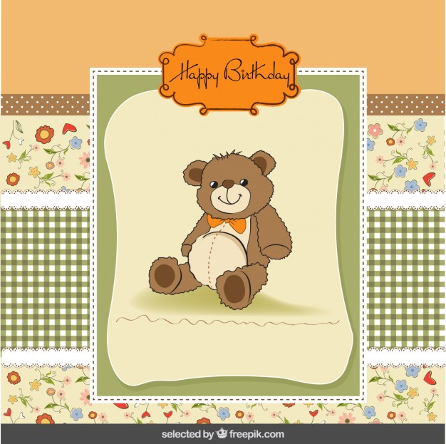birthday card with pictures free ; cute-birthday-card-with-teddy-bear_1020-380
