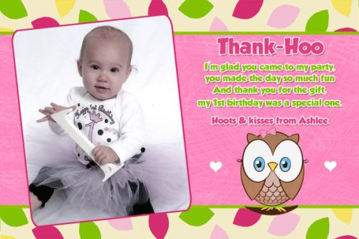 birthday card wordings for 1st birthday ; Owl-Thank-You-Sayings-Birth-Vintage-Birthday-Thank-You-Card-Wording