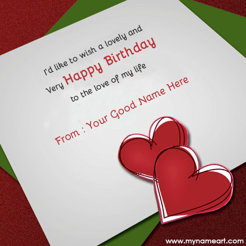 birthday cards for lover with name and photo ; birthday-wishes-for-lover