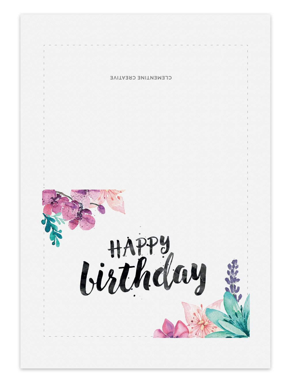 birthday cards with photos printable ; printable-watercolour-floral-birthday-card-layout_530x@2x