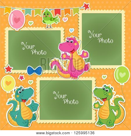 birthday collage background template ; 125995136