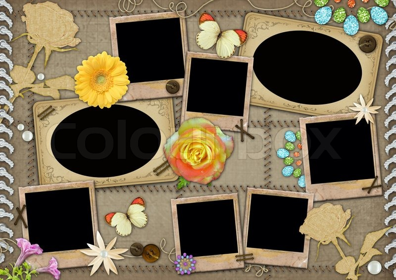 birthday collage background template ; 800px_COLOURBOX2306445