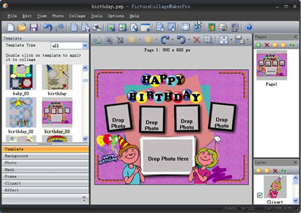 birthday collage background template ; template