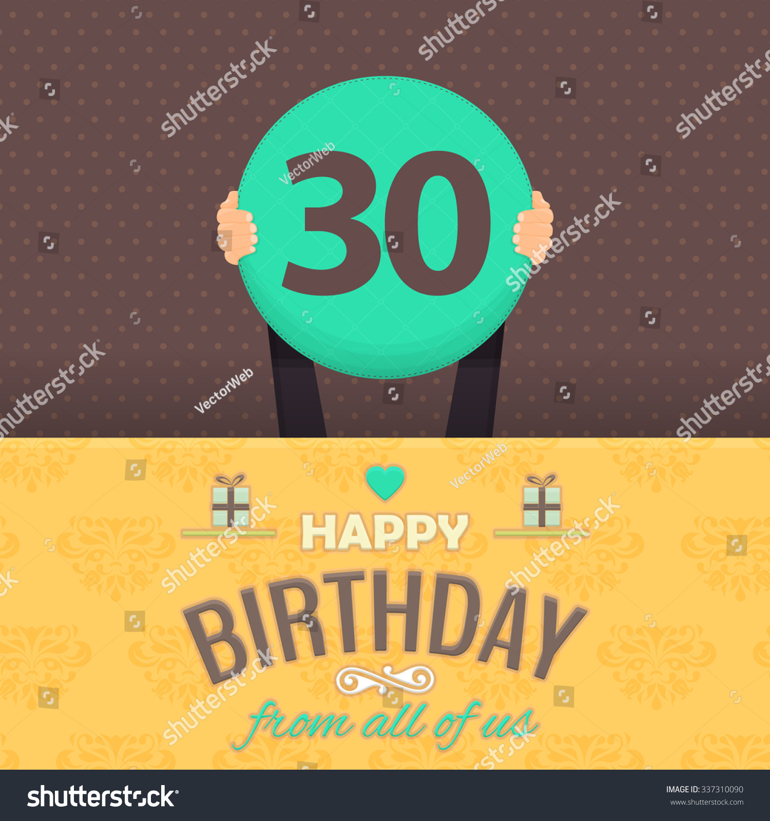 birthday colors for age 30 ; stock-vector-retro-colors-happy-birthday-vector-design-announcement-and-celebration-message-poster-flyer-flat-337310090