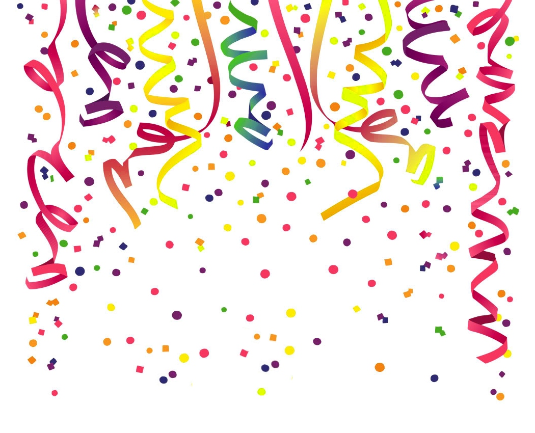 birthday confetti clipart ; Colorful-Birthday-ribbons-and-confetti-clip-art