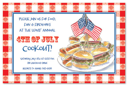 birthday cookout invitation templates ; 20573
