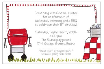 birthday cookout invitation templates ; CO-1