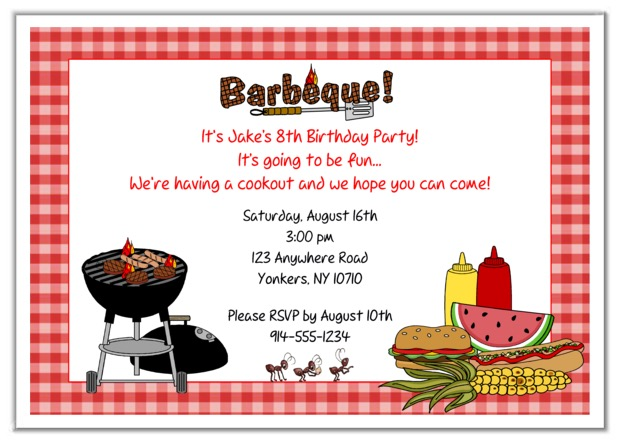birthday cookout invitation templates ; cookout-invitations-bbq-barbeque-cookout-party-invitations-2