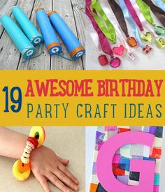 birthday crafts for kids to make ; 44d270299f6edd87514fe0c4f340f24f--kids-birthday-party-ideas-birthday-parties