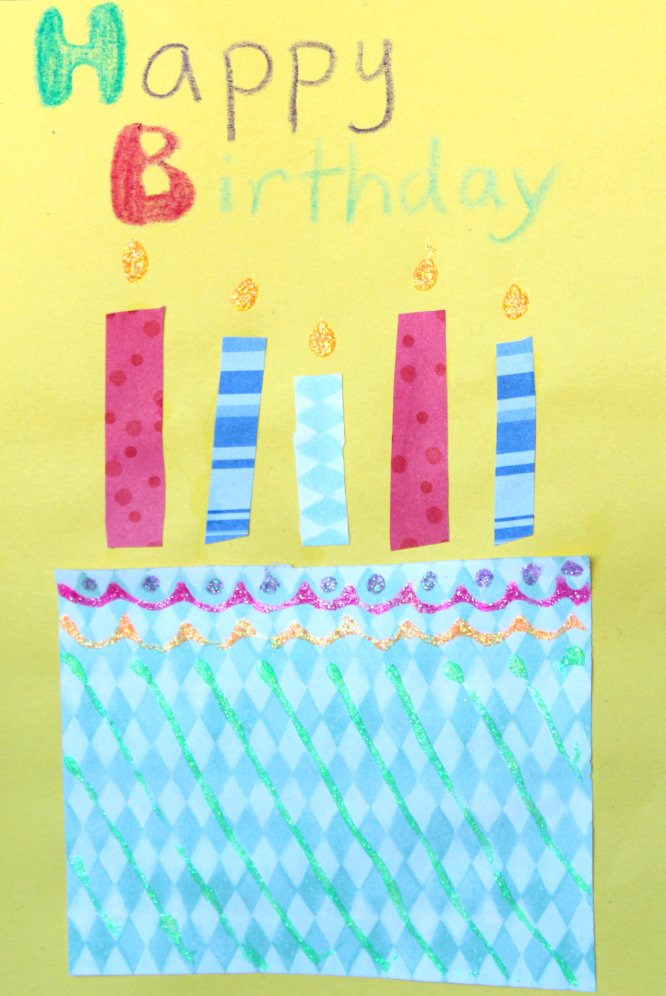 birthday crafts for kids to make ; homemade+birthday+cards+for+kids