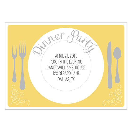 birthday dinner party invitation templates ; 938a6e3da3fc84092a96d3bfc1b0a34e
