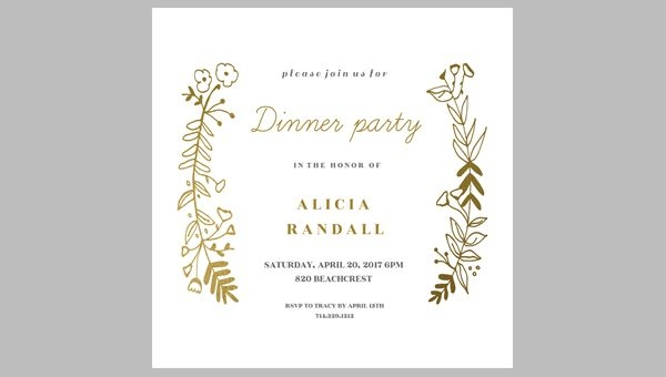 birthday dinner party invitation templates ; Din-Stunning-Dinner-Party-Invitation-Template