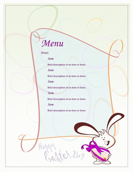 birthday dinner party menu template ; dinner-party-menu-template-word-easter-perfect-therefore-lt