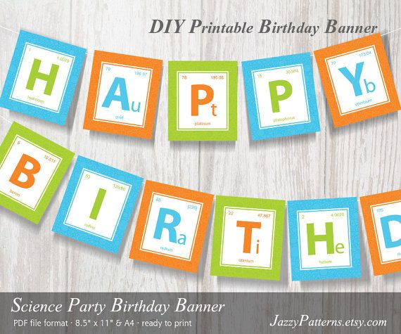 birthday express banners ; birthday-express-banners-science-party-printable-banner-periodic-table-of-elements-banner