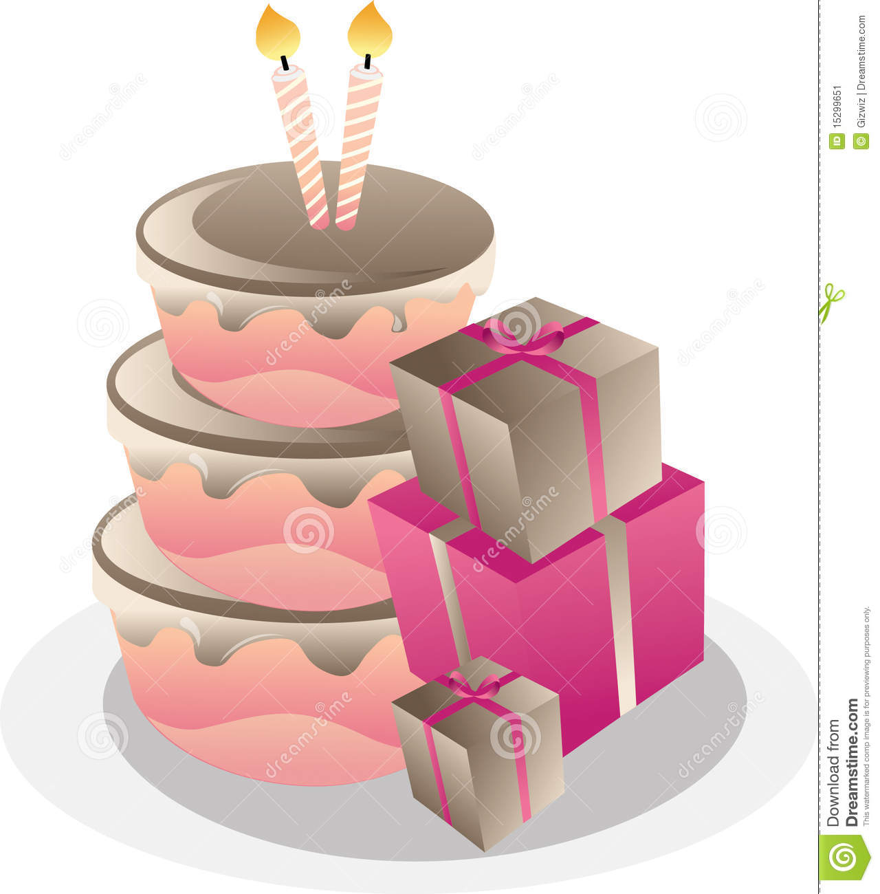 birthday gift cake image ; birthday-cake-gift-boxes-15299651