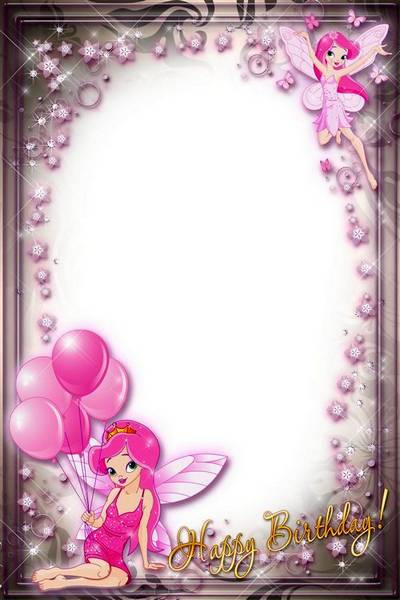 birthday girl picture frame ; 1460313511_holiday-frame-for-girls-happy-birthday-with-pink-fairies