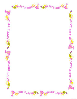 birthday girl picture frame ; 3ex11_partyBGfrm