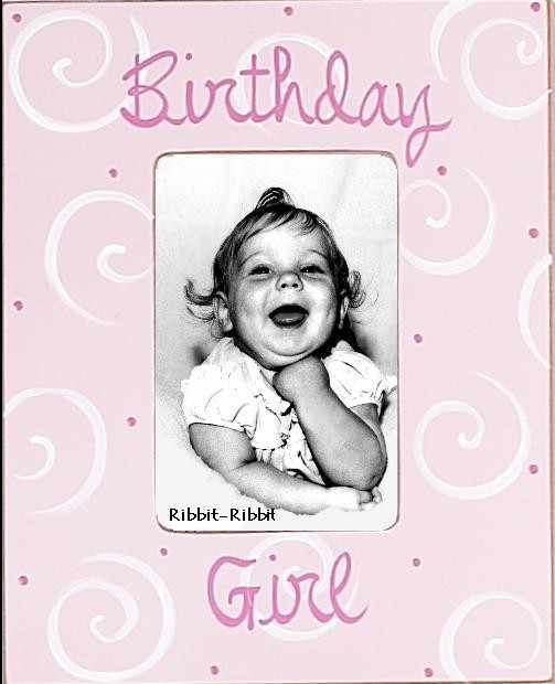 birthday girl picture frame ; birthday-girl-picture-frame-in-rose-10_1