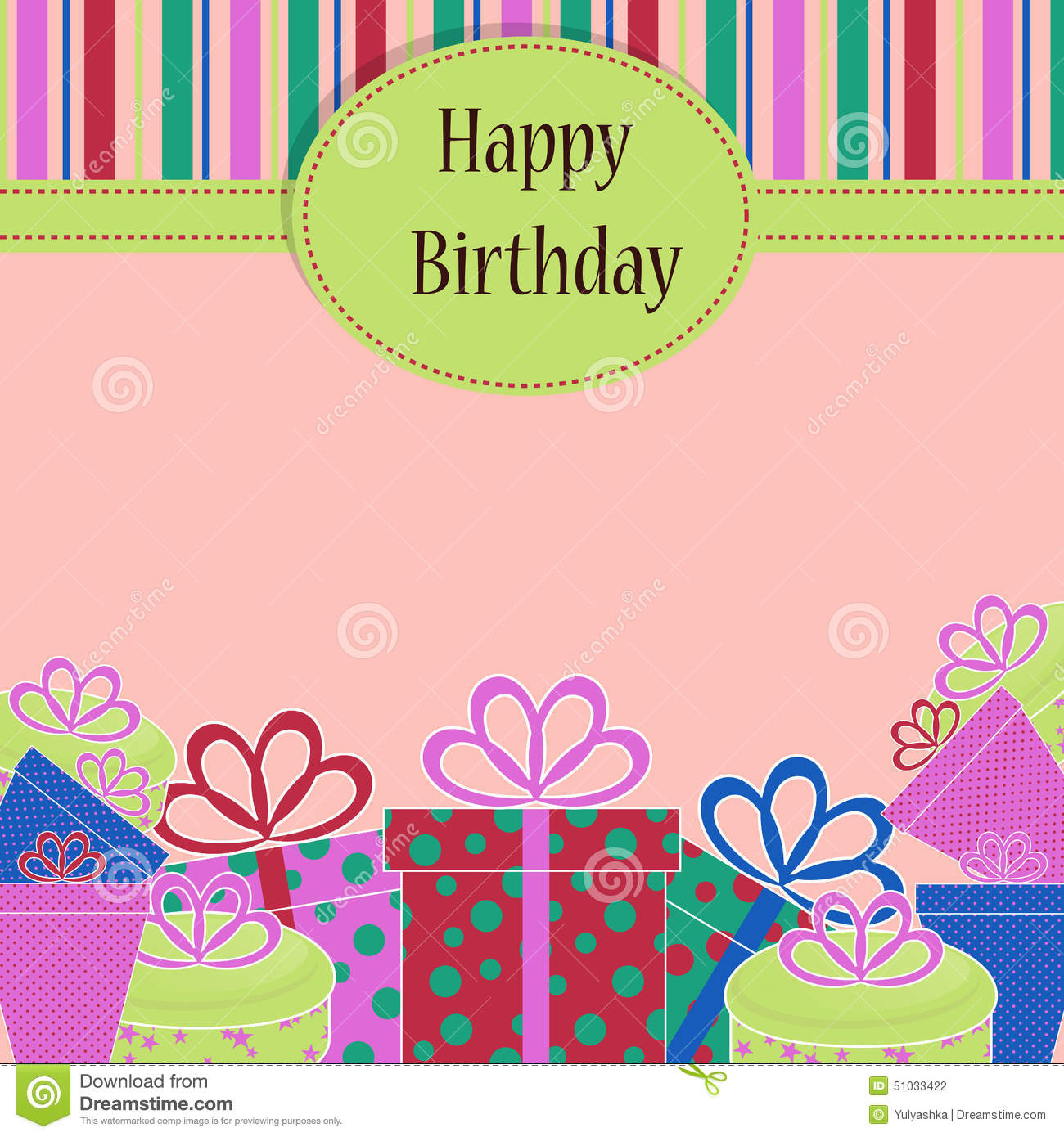 birthday greeting card template ; template-birthday-greeting-card-background-presents-ribbon-your-invite-51033422