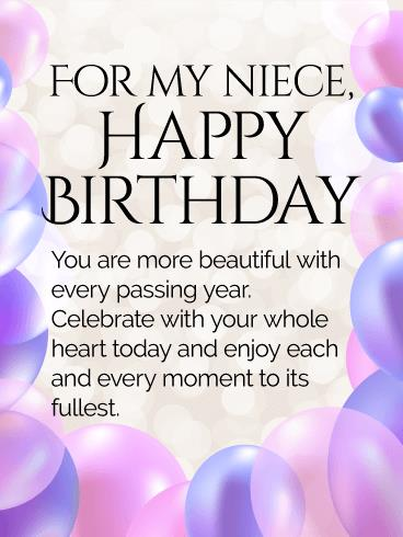 birthday greeting cards for a niece ; 22c299326405ba272aae6be613bb5fb0